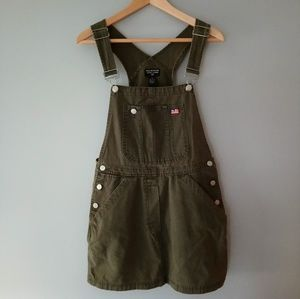 RARE 90s Vintage Polo Ralph Lauren Overall Dress